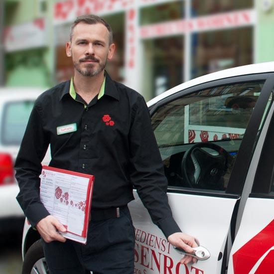 René Helm, ist unser kompetenter Pflegedienstleiter des Pflegedienst Rosenrot - familiäre Seniorenpflege