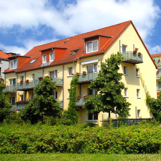 Unser Haus im Rosengarten befindet sich im Zentrum von Leipzig und ist dennoch ruhig gelegen.